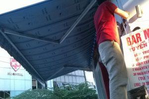 Mái bạt che nắng, che mưa Hòa Phát – Giải pháp hiệu quả cho mùa mưa.