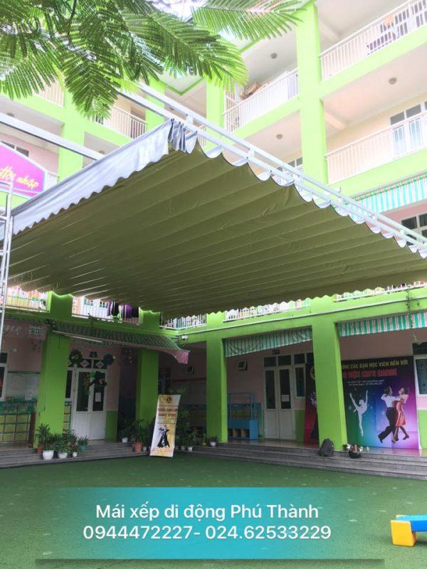 Mái xếp di đông cho trường tiểu học Hà Nội